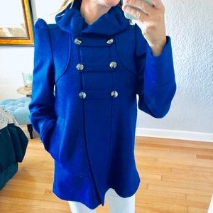 French Connection bright blue coat